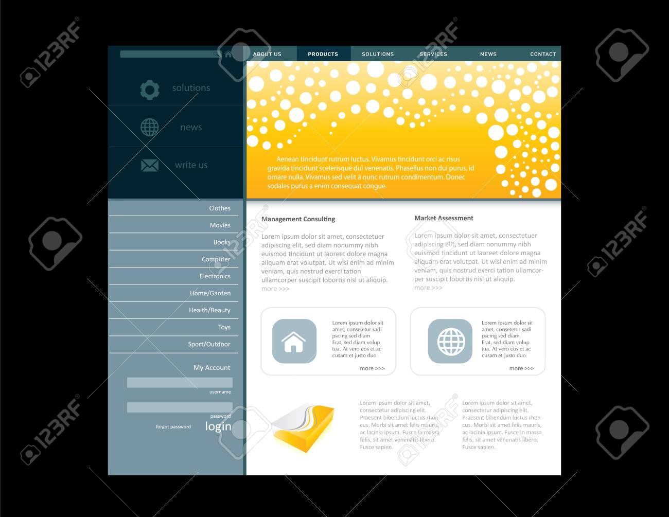 Business website template in editable format Stock Photo - 7375569