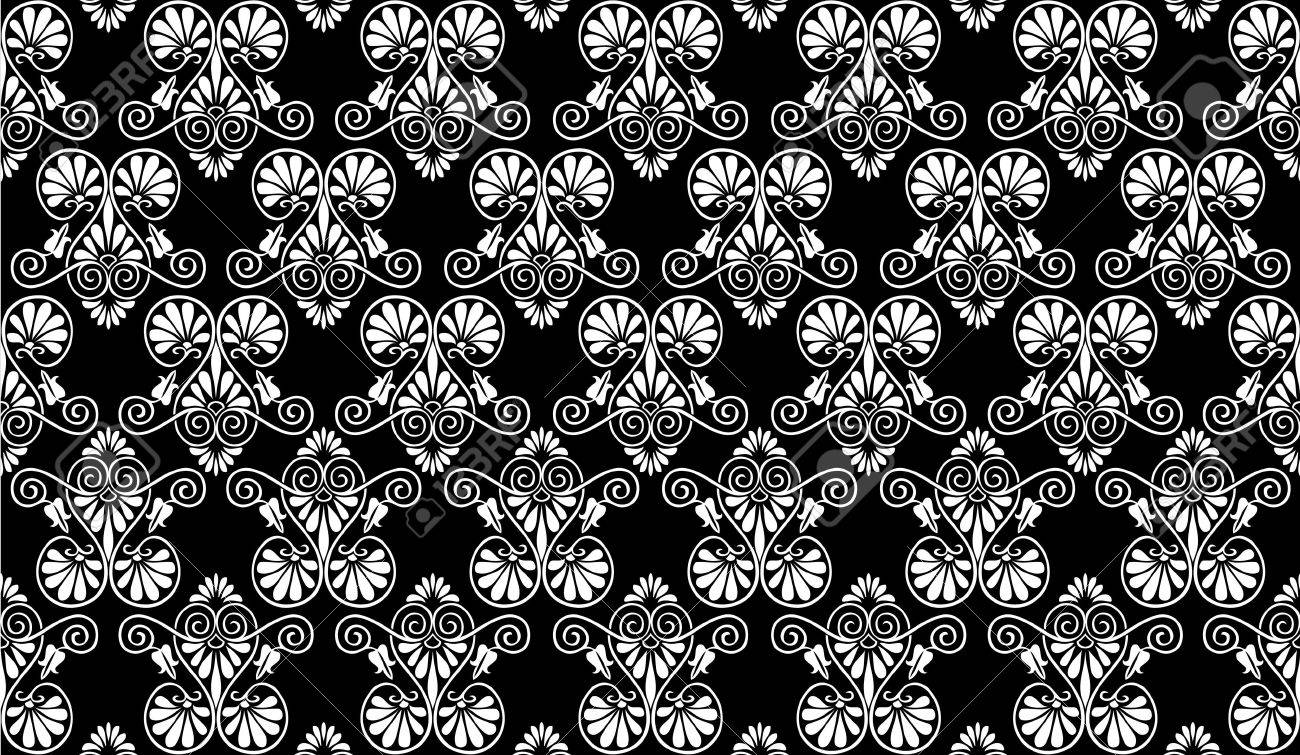 Greek decorations - pattern in editable format Stock Photo - 7630854