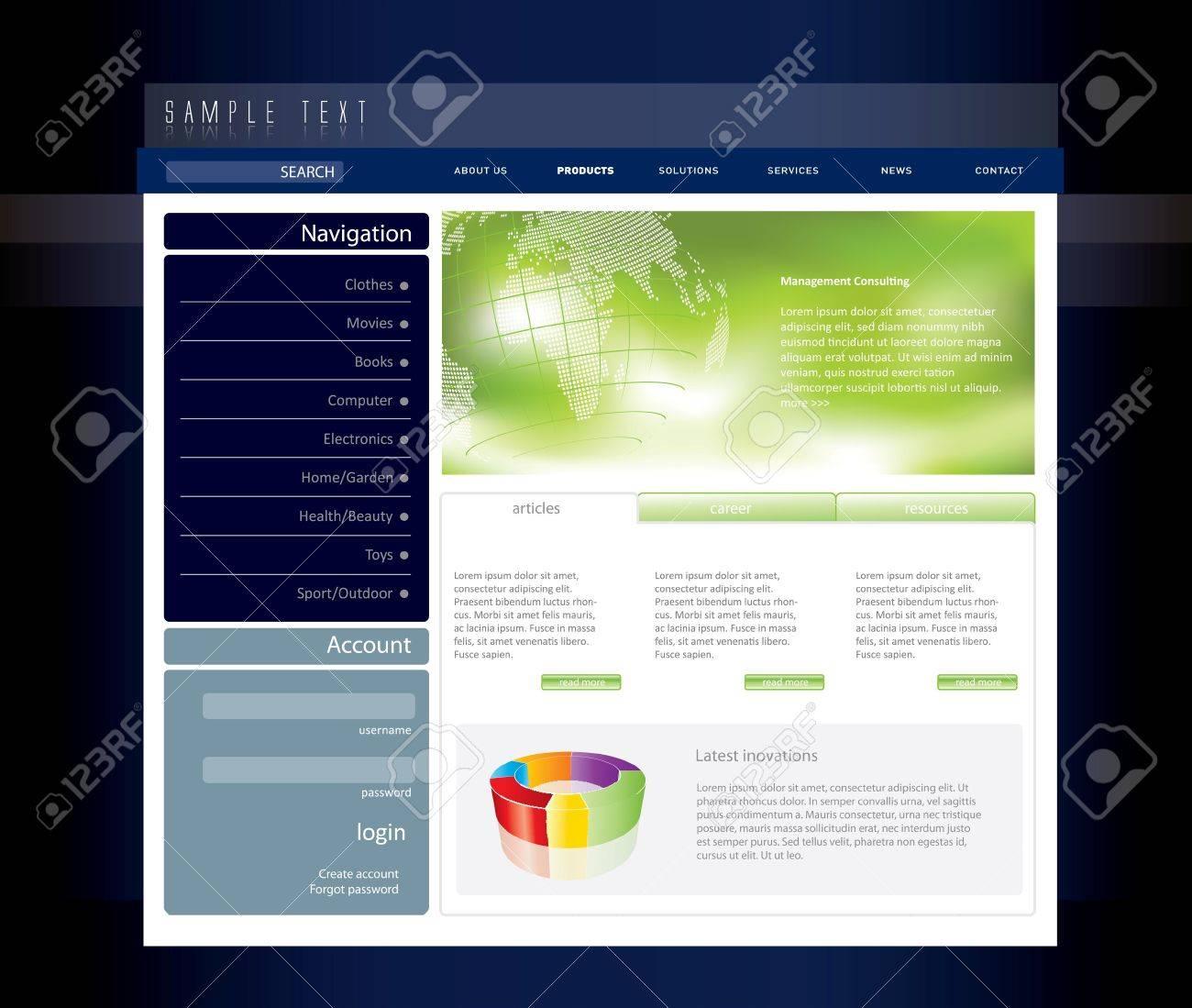 Business website template in editable  format Stock Vector - 7920634