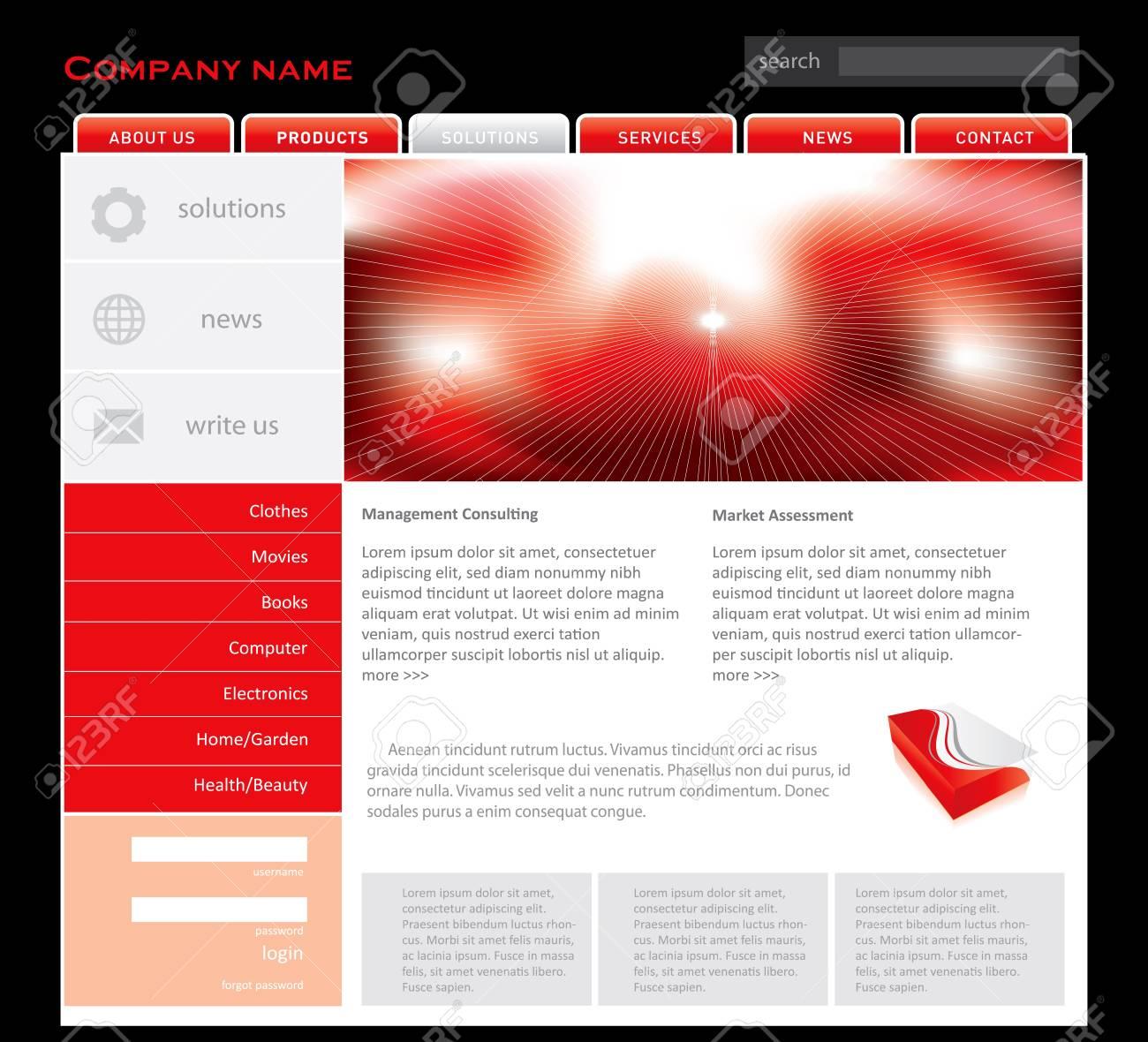 Simple Website Template In Editable Vector Format Royalty Free