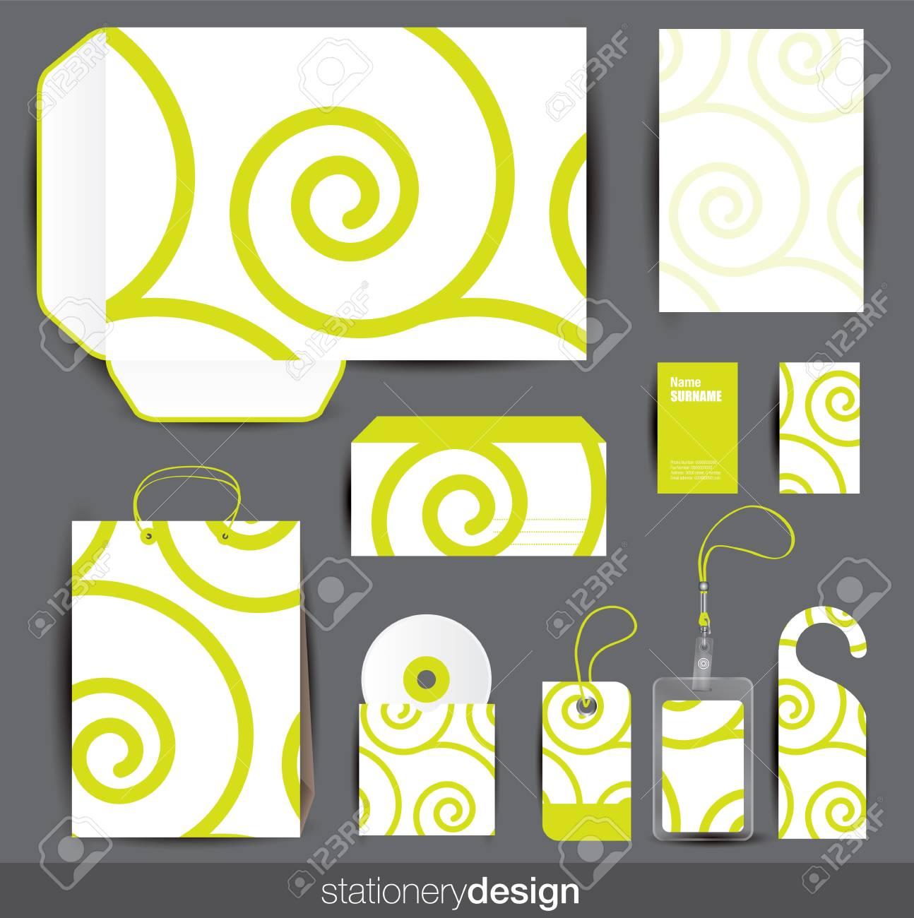 Stationery design set Stock Vector - 16439190