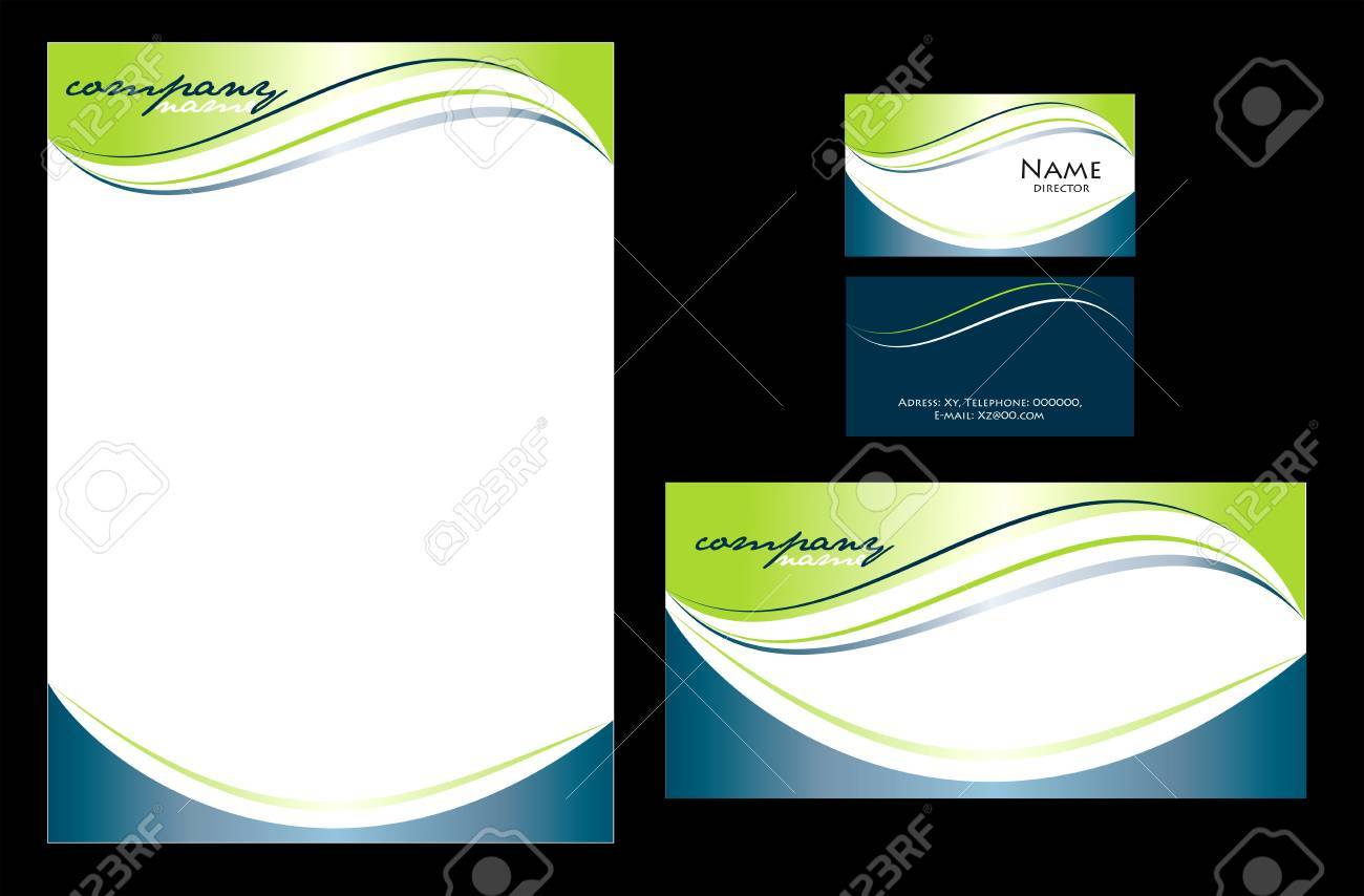 simple stationary design in editable vector format royalty free