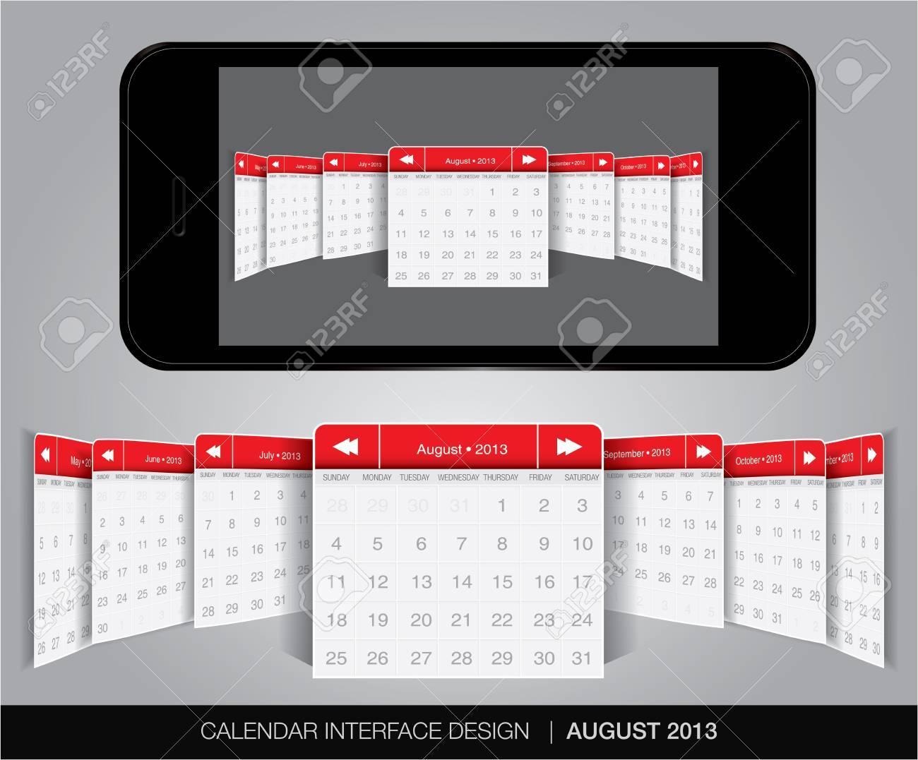 Calendar interface concept in editable vector format. Stock Vector - 20002108