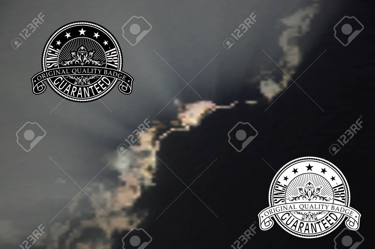 Vintage style badge on mesh background Stock Vector - 20678998