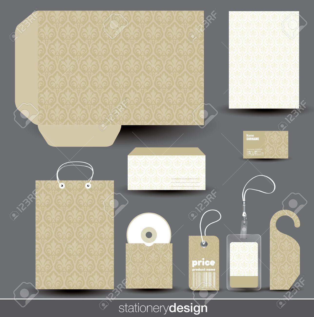 Stationery design set in editable vector format - 20948859