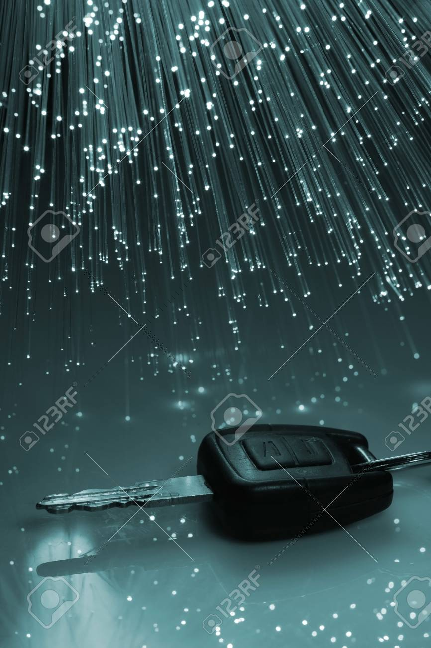 Fiber optics background with lots of light spots Stock Photo - 4232727