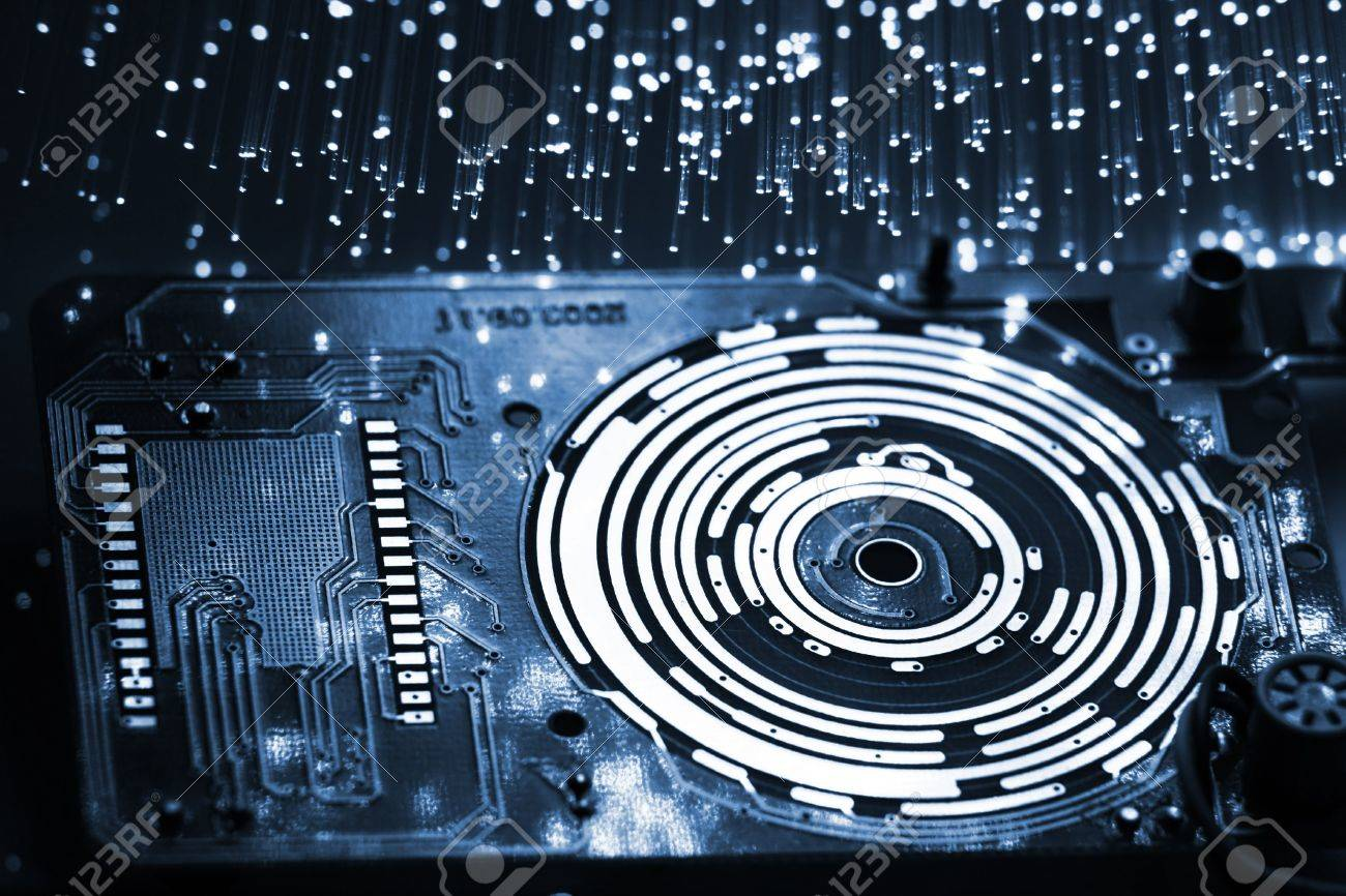 Fiber optics background with lots of light spots Stock Photo - 4630878