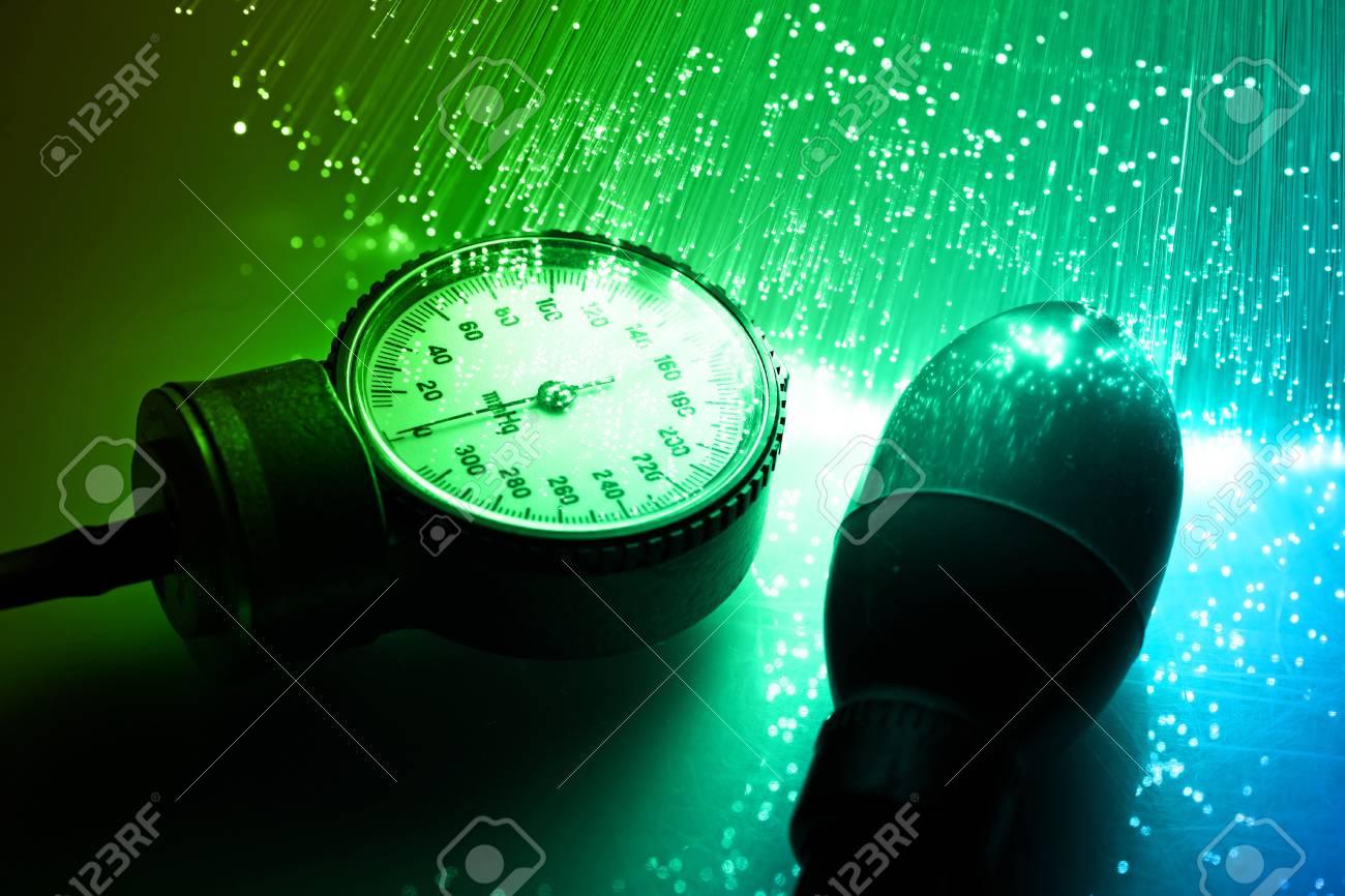 Fiber optics background with lots of light spots Stock Photo - 7709259