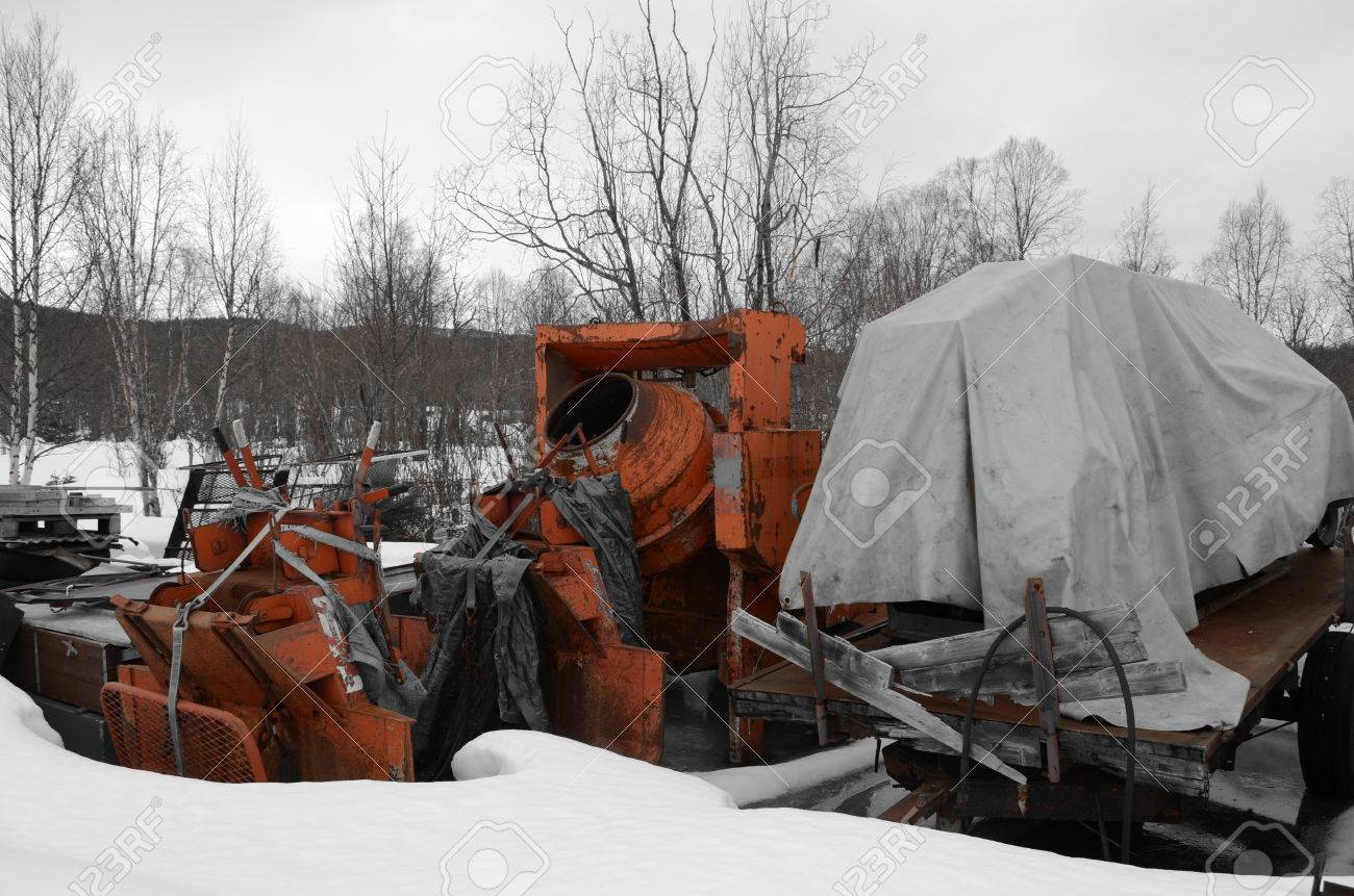 Orange Cement Mixer Heavy Duty Orange Cement Mixer