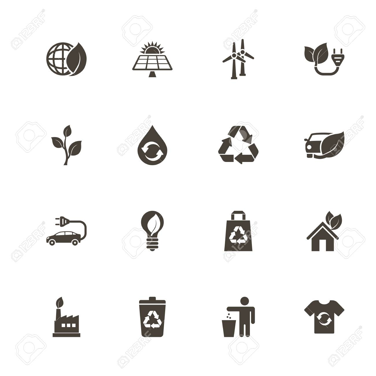 Ecological icons. Perfect black pictograph on white background. Flat simple vector icon. - 94225716
