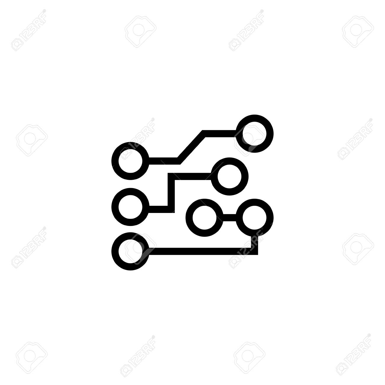 Circuit Board In Simple Black Symbol On White Background Stock Photo Build A Images Of 98874555