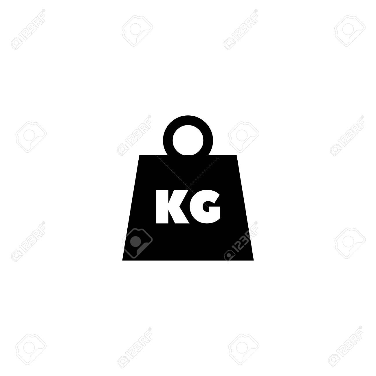 Weight Kilogram Flat Vector Icon Illustration Simple Black