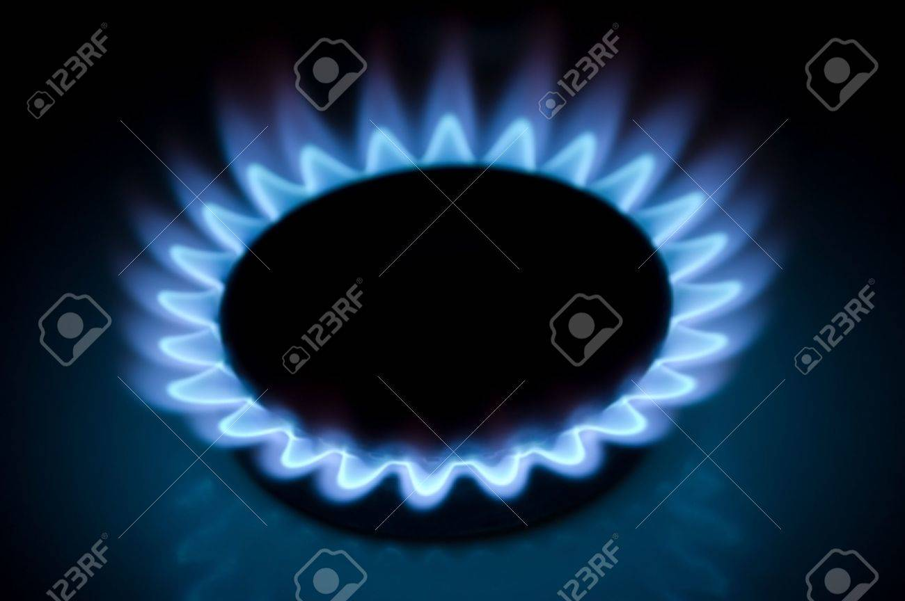 The gas ring burns a bright flame Stock Photo - 5893079