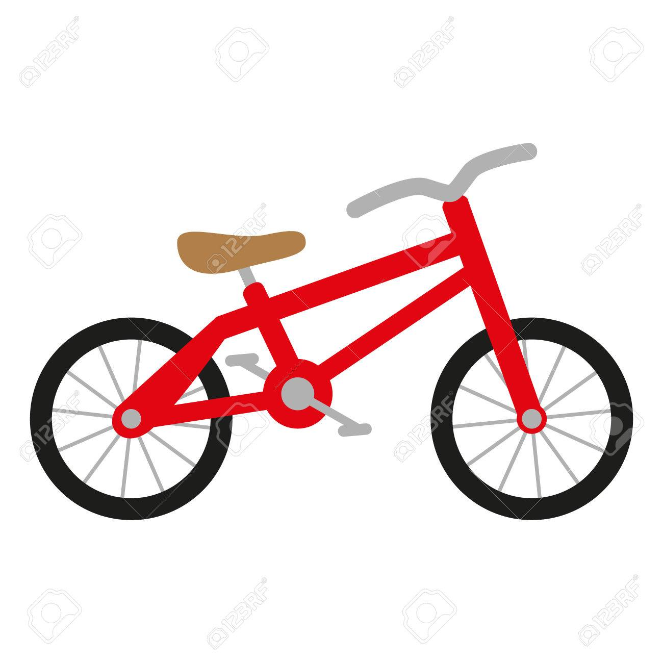 Red Bike With Wheels Seat And Handlebar Royalty Free Cliparts