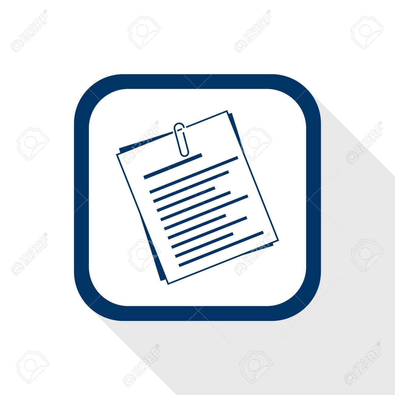 Square blue icon document with long shadow symbol of info square blue icon document with long shadow symbol of info information paper biocorpaavc Images