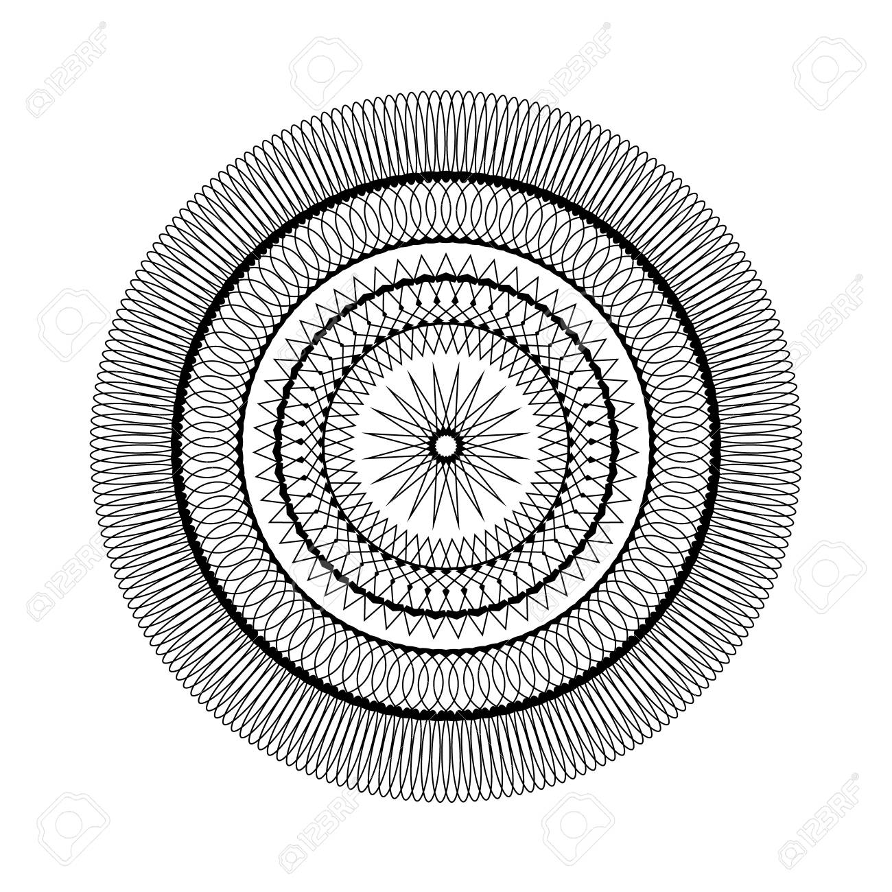 Coloriage Etoile Mandala.Vecteur Adulte Livre De Coloriage Page Modele Circulaire Mandala