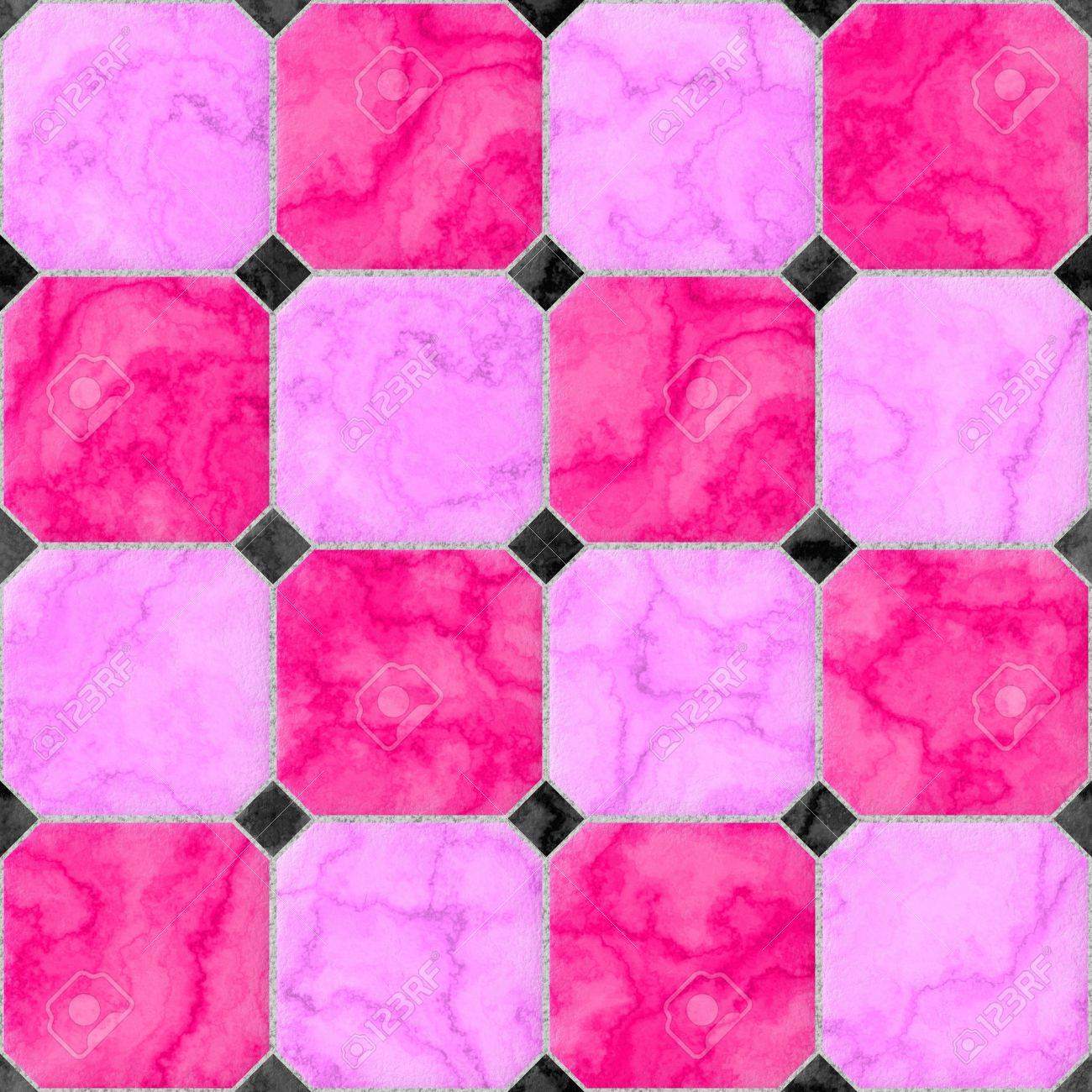 Significant pink magenta marble square floor tiles with black significant pink magenta marble square floor tiles with black rhombs and gray gap seamless pattern texture dailygadgetfo Image collections