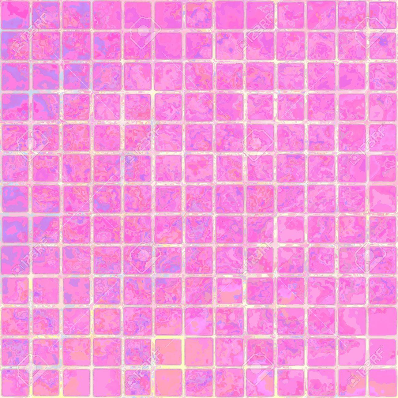 Sweet pink marble square floor tiles with light gap seamless sweet pink marble square floor tiles with light gap seamless pattern texture background stock photo dailygadgetfo Image collections