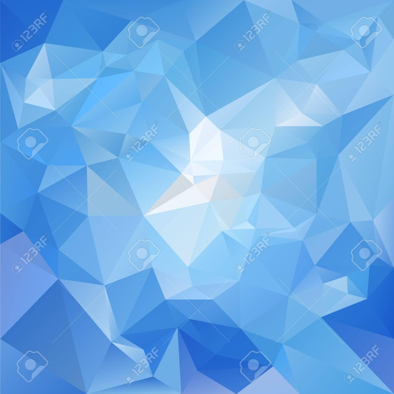 Couleur Avec Bleu Ciel abstrait polygone irrégulier avec un motif triangulaire dans des couleurs  bleu ciel