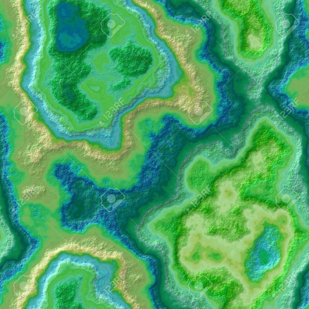 Grun Blau Und Gelb Marmor Achatstein Nahtlose Muster Textur