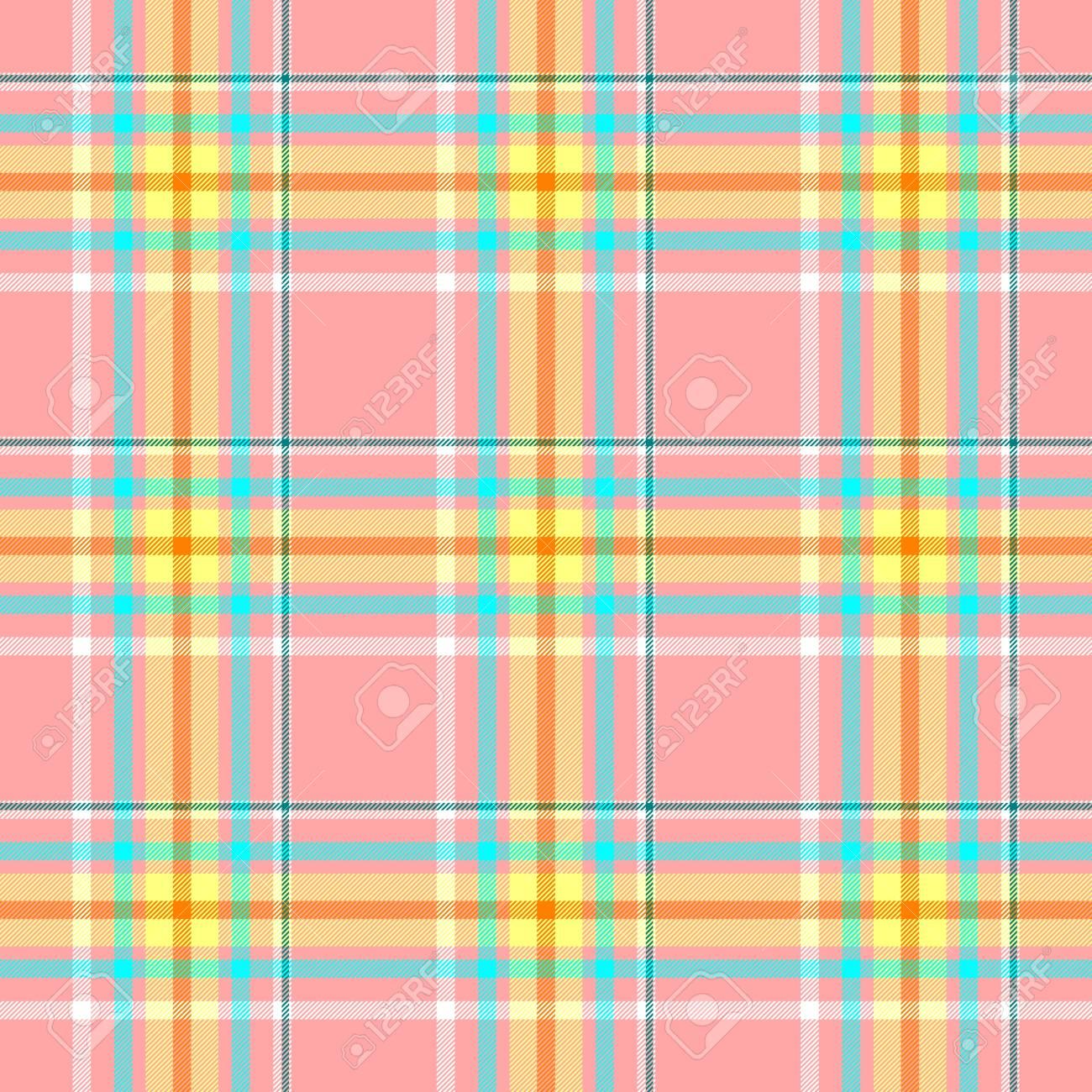 08f6e0db9 Compruebe la tela escocesa del escocés del tartán del diamante fondo  inconsútil de la textura del modelo - color rosado, amarillo, azul y ...