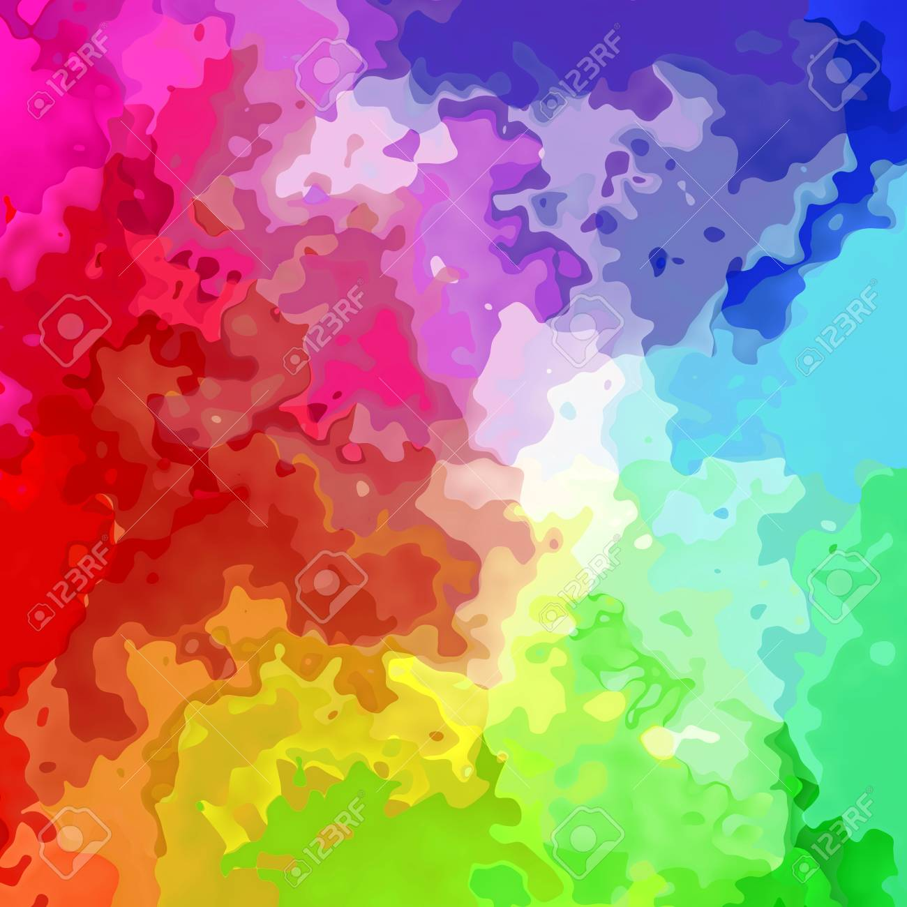 Abstract Stained Pattern Texture Background Full Color Spectrum