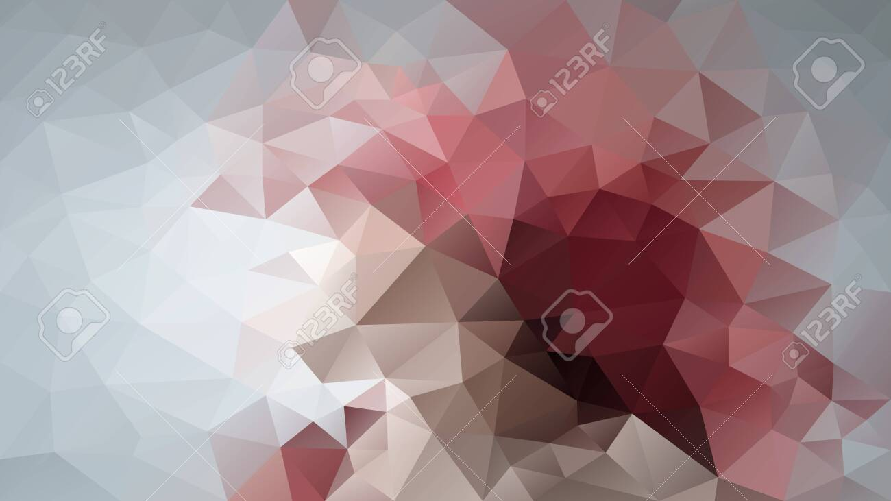 vector abstract irregular polygon background - triangle low poly pattern - color grey old pink mauve brown - 142777006