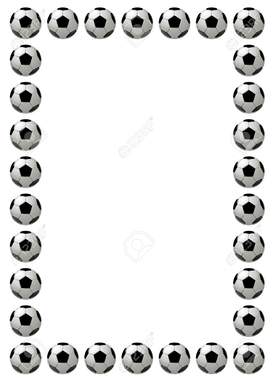 Soccer Ball Or Football Frame With Place For Text, White Background ...