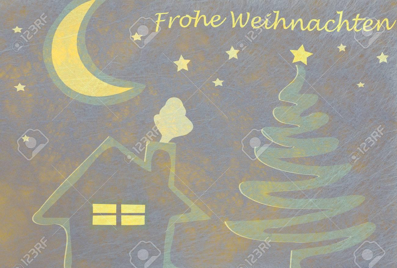 Zusammenfassung Weihnachtsbaum Haus Und Mond Und Die Deutsch Worte