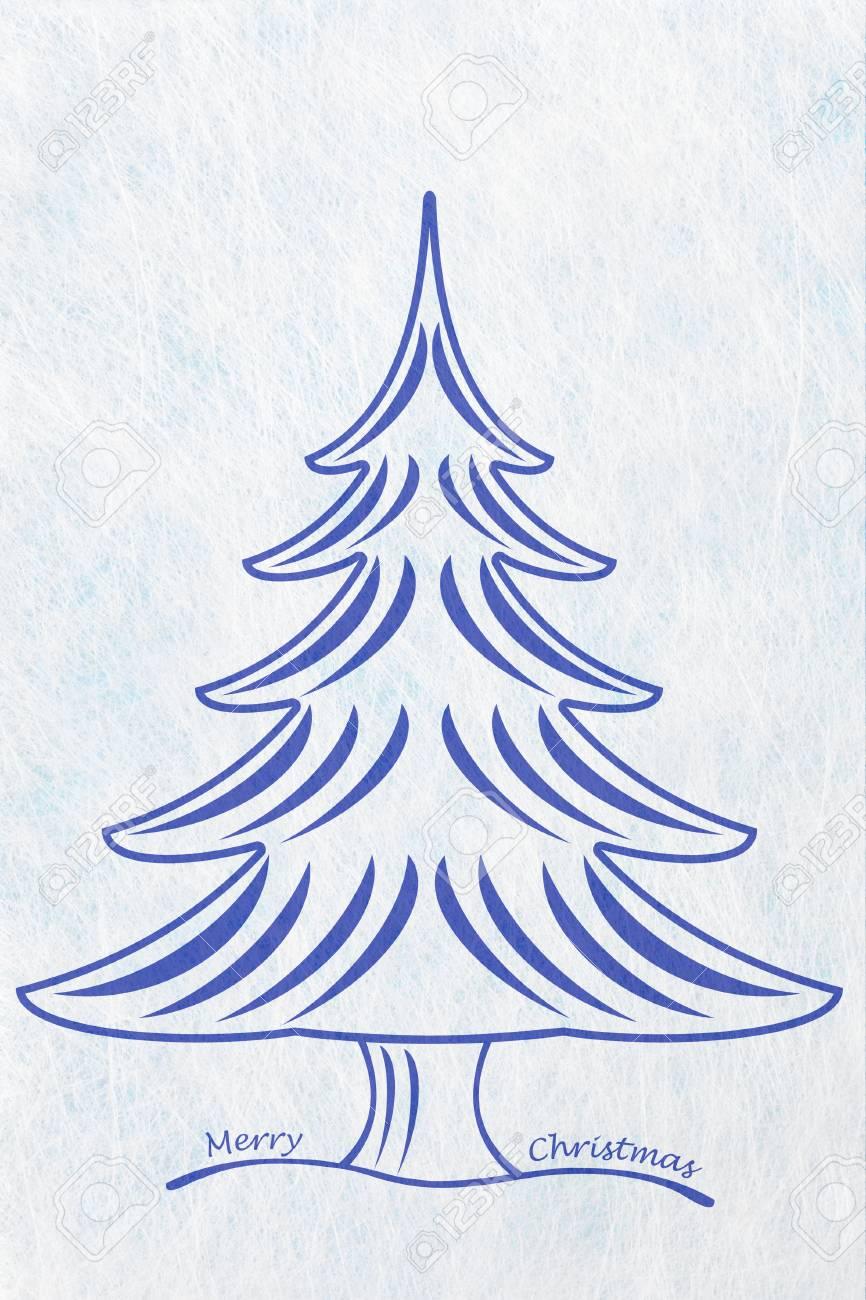 Abstrakter Weihnachtsbaum Und Die Worte Frohe Weihnachten ...