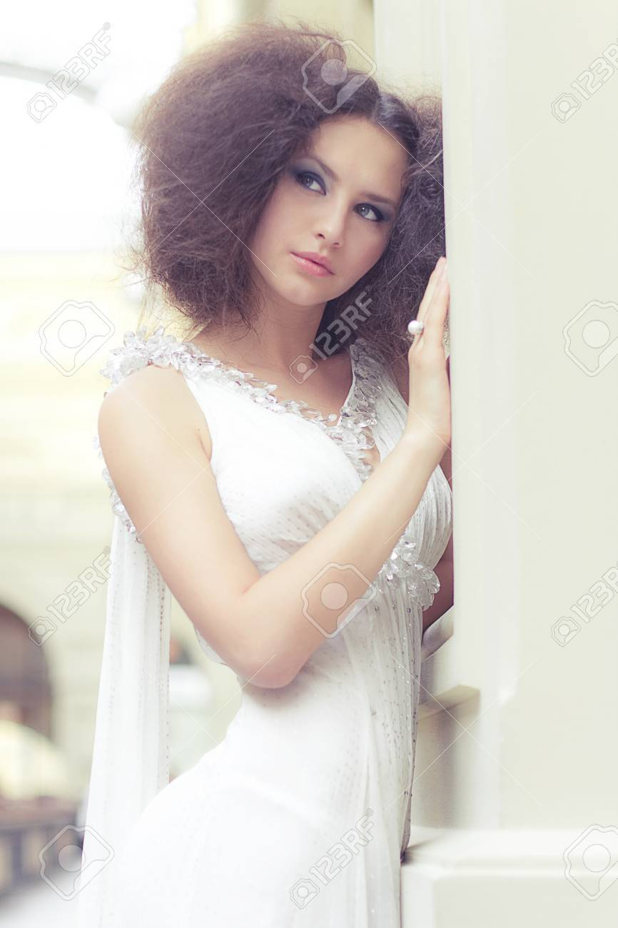 Sexy young bride Stock Photo - 16231569