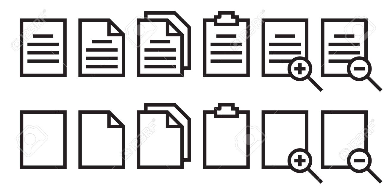 paper icon set with conditional applications - 142538523