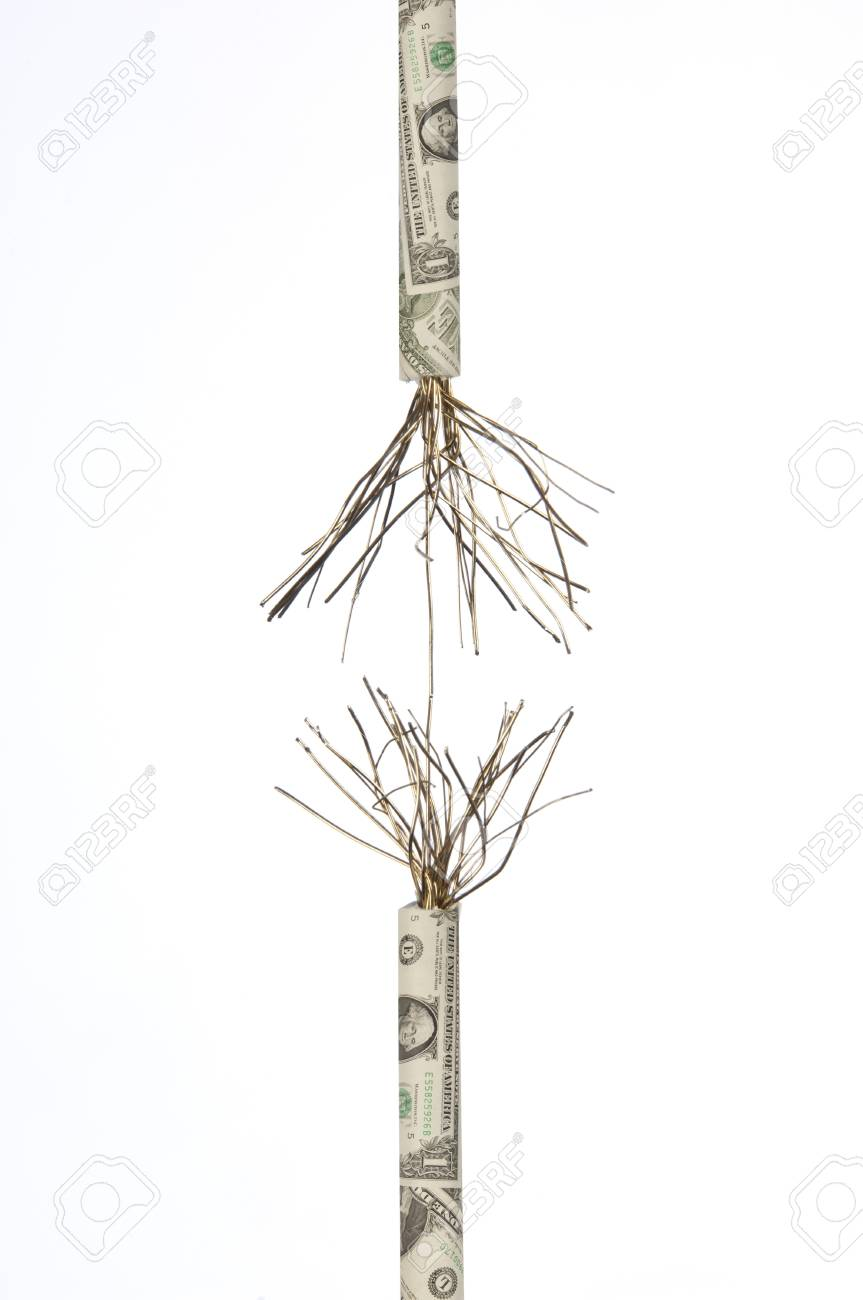 Wound string of banknotes which is unraveling Stock Photo - 12881997