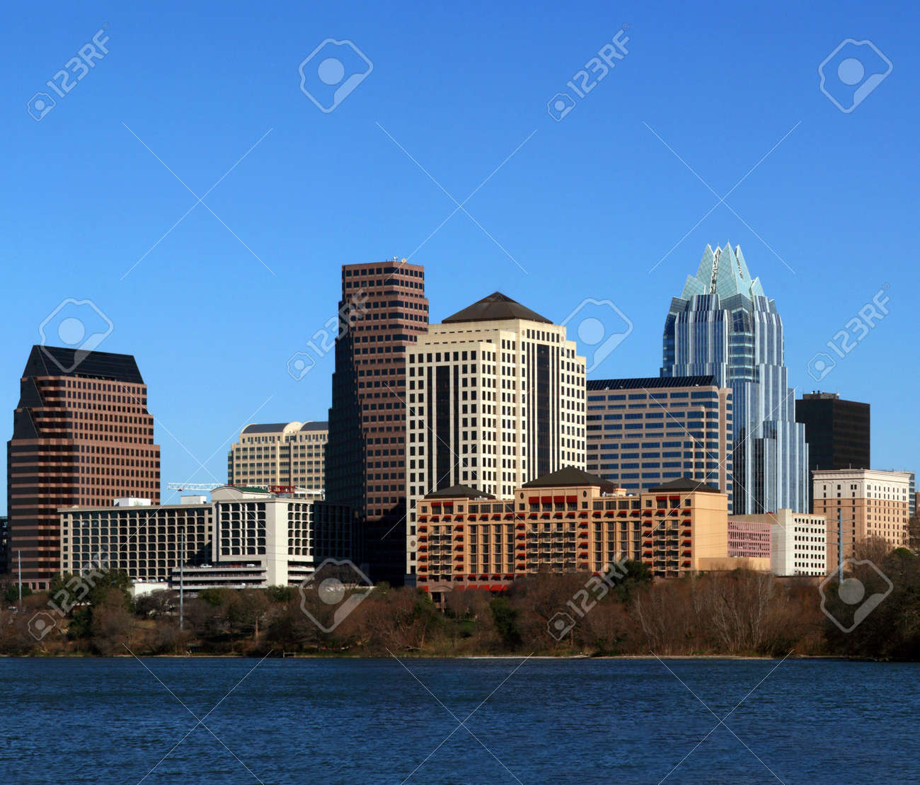 The downtown austin texas skyline on a clear sunny day. Stock Photo - 3003898