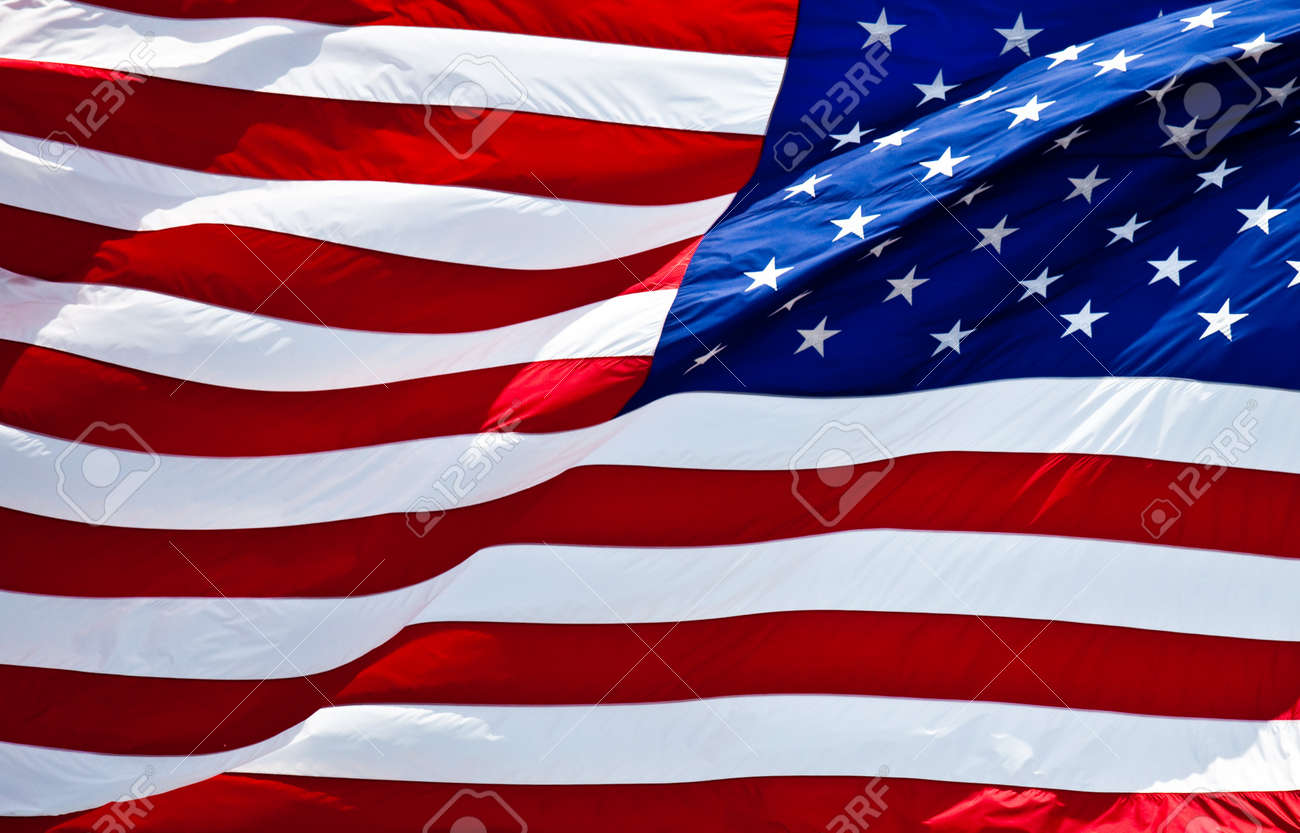 an american flag boldly flying in the wind Stock Photo - 7765222