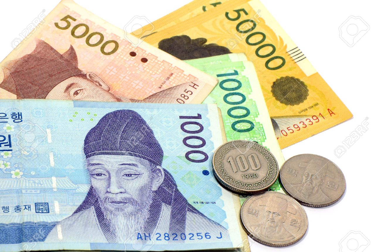 Current use of south korean won currency in different value stock current use of south korean won currency in different value stock photo 27770360 buycottarizona