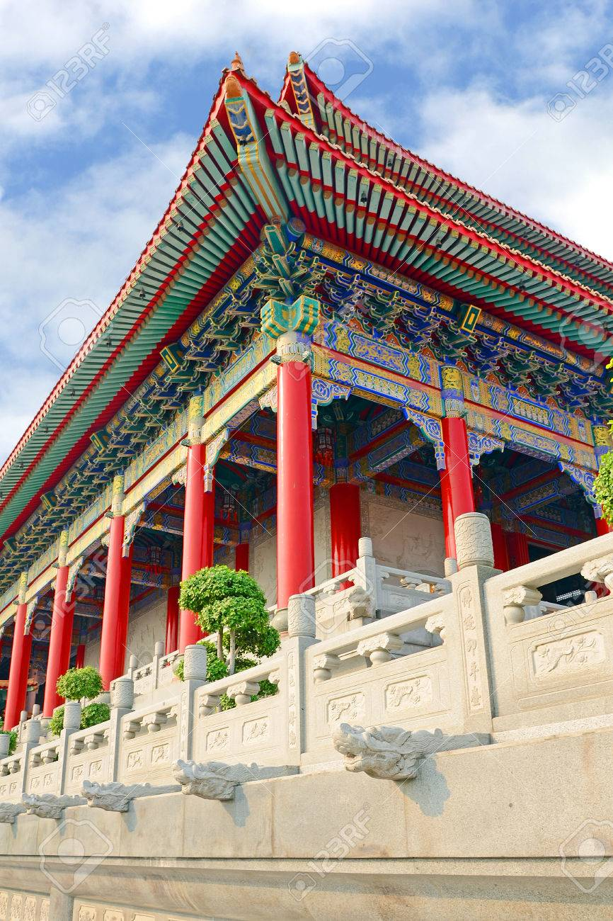 Chinese Roof Pattern Of Grand Chinese Temple With Fantastic Design Stock Photo Picture And Royalty Free Image Image 28685869