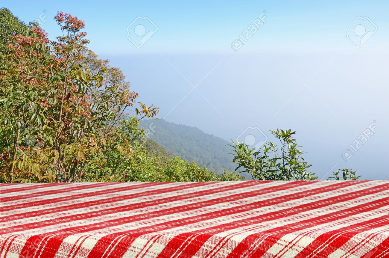 outdoor picnic background with picnic table stock photo picture