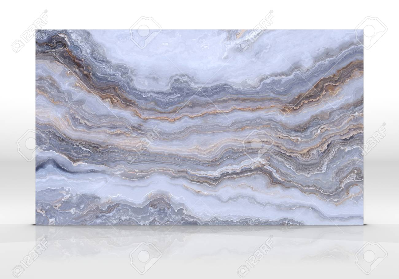 Onyx Marble Tile Standing On The White Background With Reflections ...