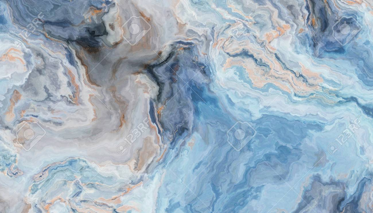 Blue Marble Pattern With Curly Grey And Gold Inclusions Abstract Stock Photo Picture And Royalty Free Image Image 108633050