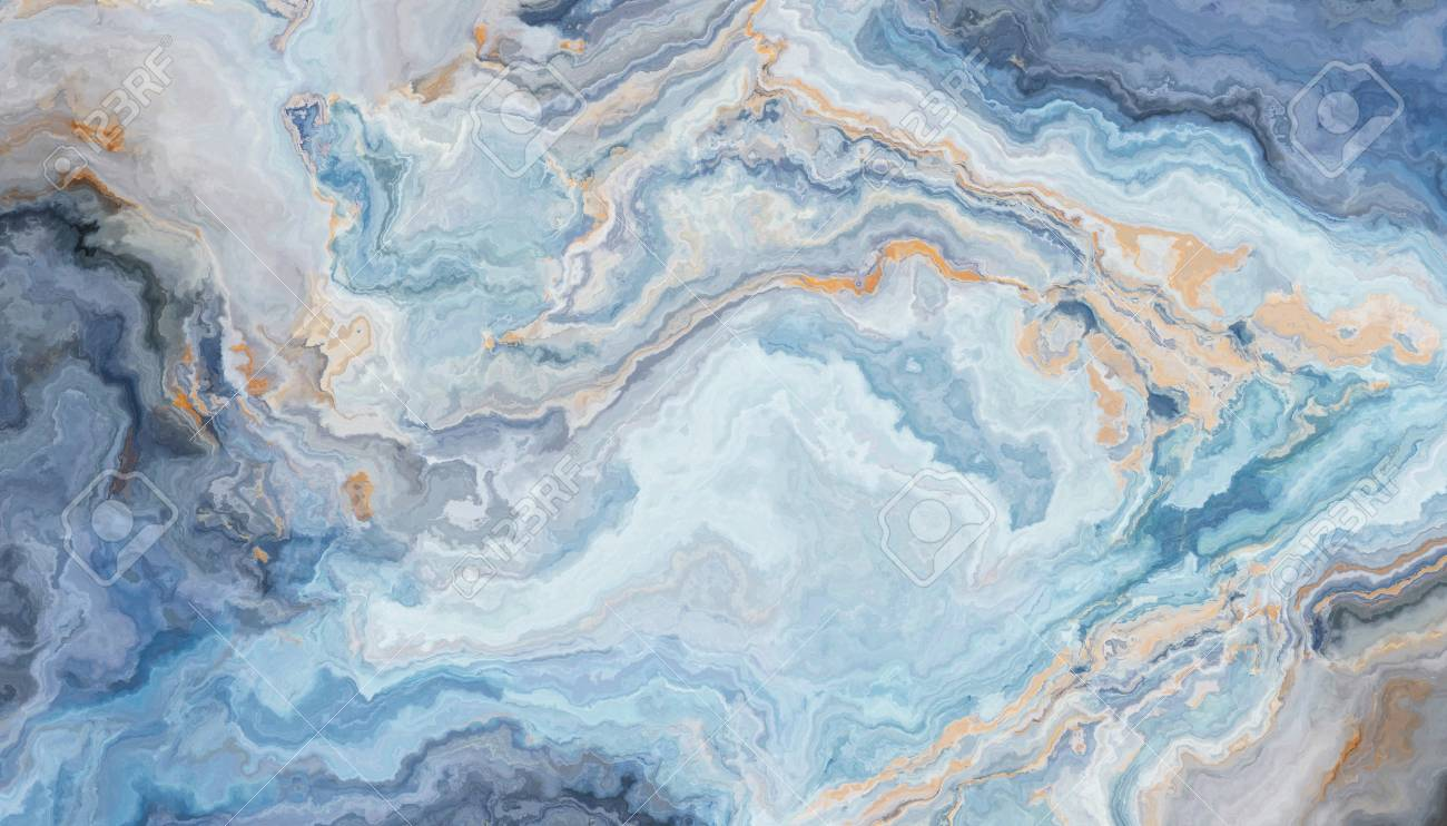 Blue Marble Pattern With Curly Grey And Gold Inclusions Abstract Stock Photo Picture And Royalty Free Image Image 108633052