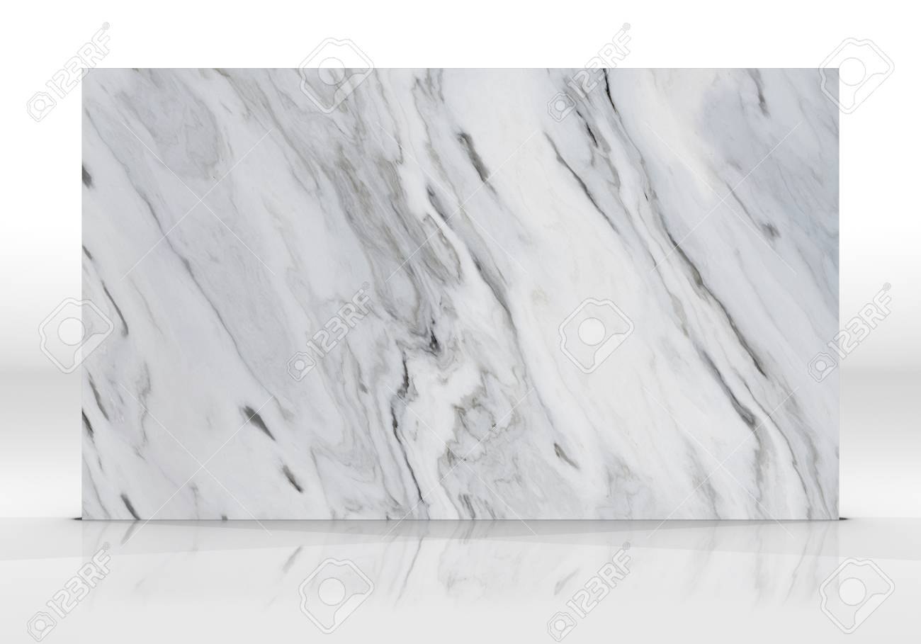 White Marble Tile Standing On The White Background With Reflections Stock Photo Picture And Royalty Free Image Image 122105905