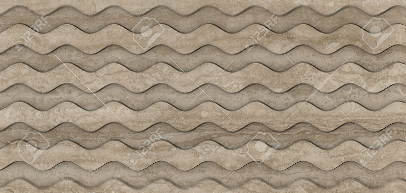 The Panel of Beige marble Carved with cnc machine. Abstract texture and background. Soft colored 2D illustration - 163584254