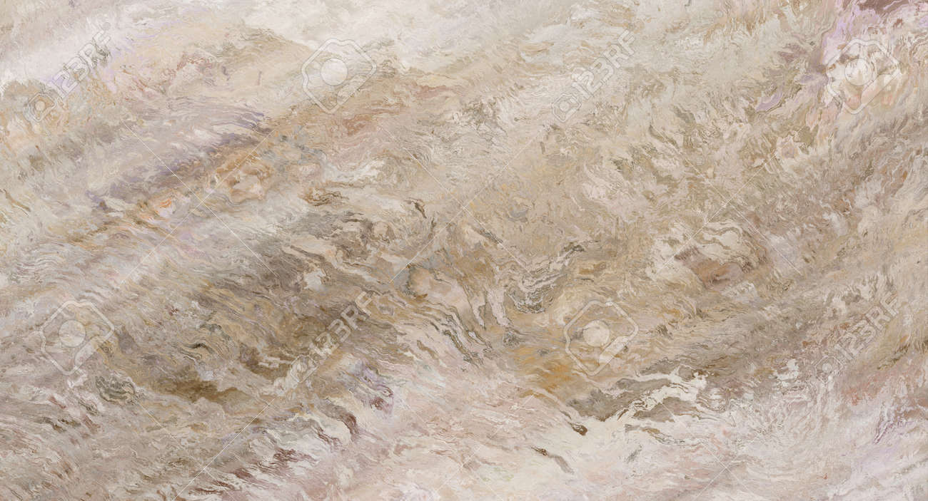 Beige marble pattern with curly veins. Abstract texture and background. Soft colored 2D illustration - 163576668