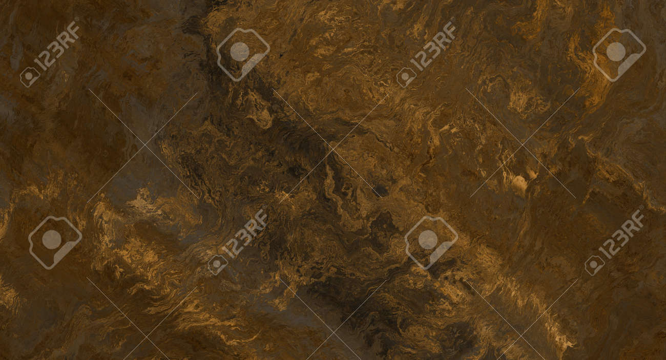 Gold marble fragment with detailed golden veins texture. 2d illustration - 163576671