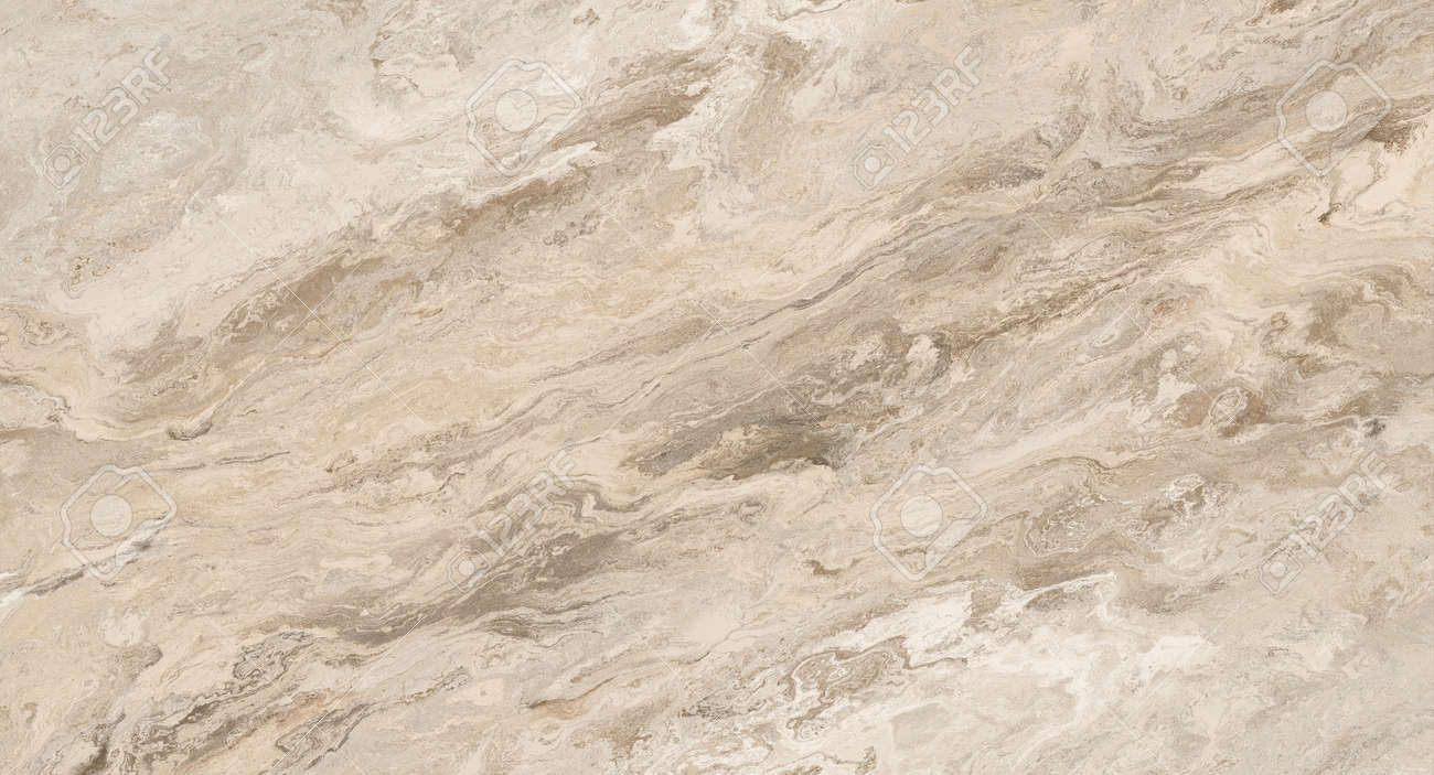 Beige marble pattern with curly veins. Abstract texture and background. Soft colored 2D illustration - 163576672