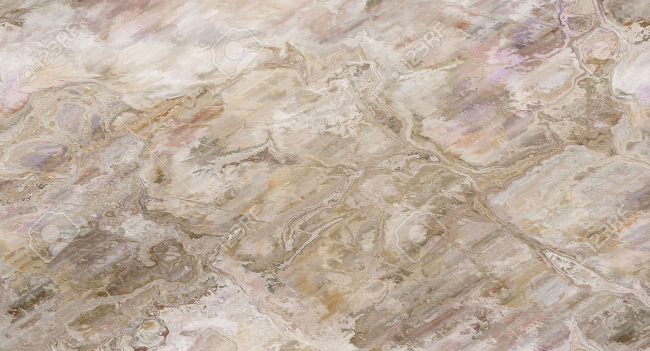 Beige marble pattern with curly veins. Abstract texture and background. Soft colored 2D illustration - 163576678