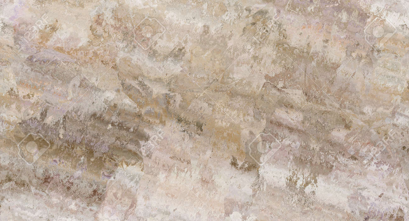 Beige marble pattern with curly veins. Abstract texture and background. Soft colored 2D illustration - 163580535