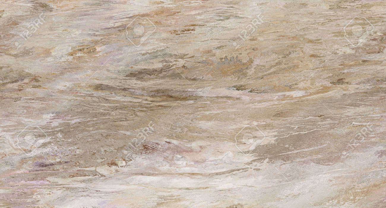 Beige marble pattern with curly veins. Abstract texture and background. Soft colored 2D illustration - 163580545
