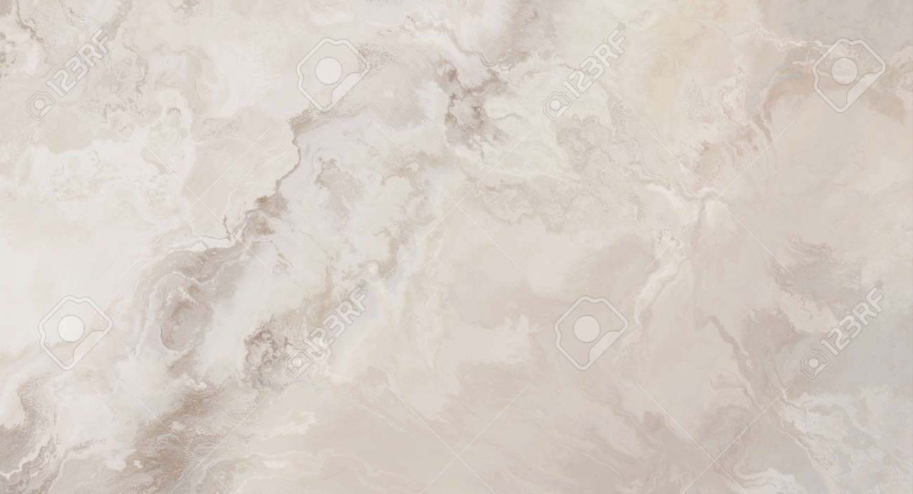 Beige marble pattern with curly white and orange veins. Abstract texture and background. Soft colored 2D illustration - 163580544